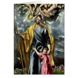 San José y el niño de Cristo, 1597-99 Tarjeta De Felicitación