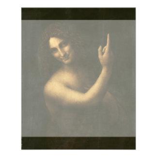 """San Juan Bautista de Leonardo da Vinci Folleto 4.5"""" X 5.6"""""""