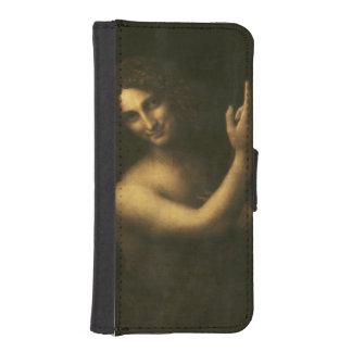 San Juan Bautista de Leonardo da Vinci Fundas Cartera Para Teléfono