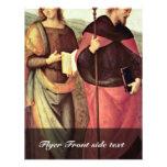 San Juan Bautista y St Augustine por Perugino Tarjeton