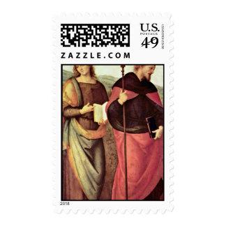 San Juan Bautista y St Augustine por Perugino Franqueo