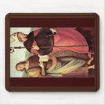 San Juan Bautista y St Augustine por Perugino Alfombrilla De Ratón