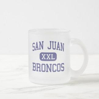 San Juan - Broncos - High School - Blanding Utah 10 Oz Frosted Glass Coffee Mug