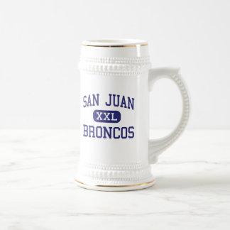 San Juan - Broncos - High School - Blanding Utah 18 Oz Beer Stein