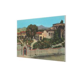 San Juan Capistrano, CAView de la misión Lienzo Envuelto Para Galerías