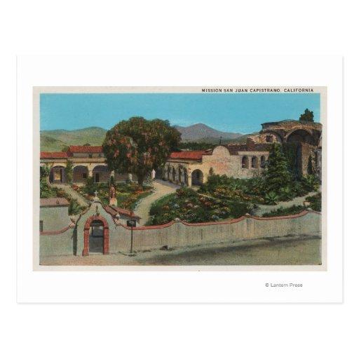 San Juan Capistrano, CAView de la misión Tarjeta Postal