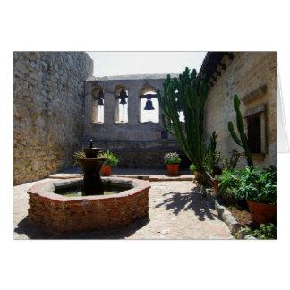San Juan Capistrano Mission Courtyard Card