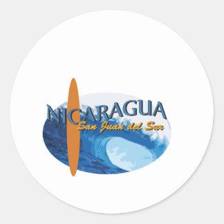 San Juan Del Sur Classic Round Sticker