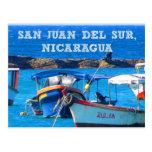 San Juan del Sur, postal de los barcos de Nicaragu
