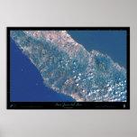 San Juan del Sur, poster del satélite de Nicaragua