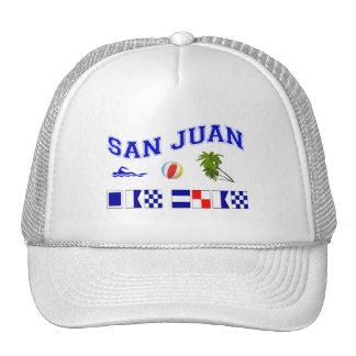 San Juan - deletreo marítimo de la bandera Gorro De Camionero