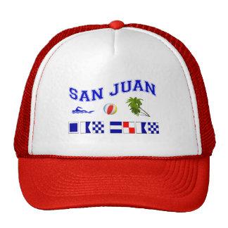 San Juan - deletreo marítimo de la bandera Gorras