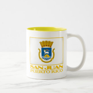 San Juan Flag Two-Tone Coffee Mug