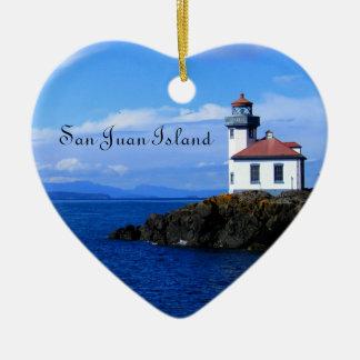 San Juan Island Ceramic Ornament
