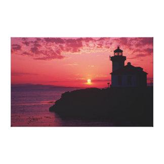 San Juan Island, Lime Kiln Lighthouse Canvas Print