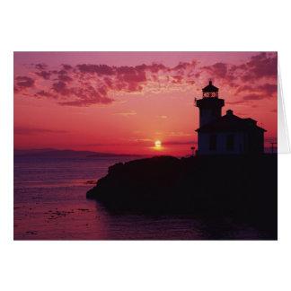 San Juan Island, Lime Kiln Lighthouse Card