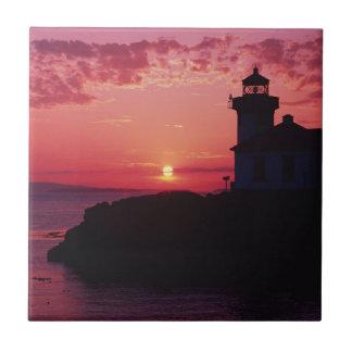 San Juan Island, Lime Kiln Lighthouse Ceramic Tile