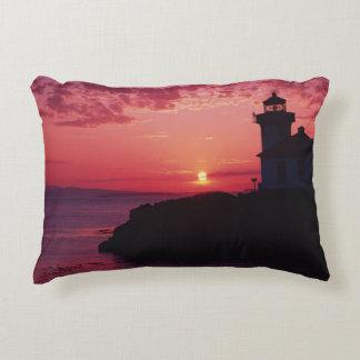 San Juan Island, Lime Kiln Lighthouse Decorative Pillow