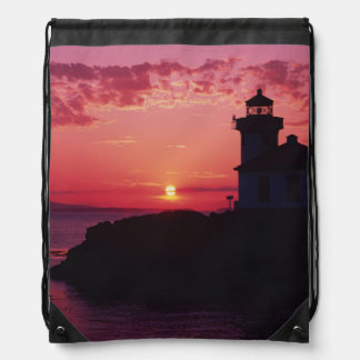San Juan Island, Lime Kiln Lighthouse Drawstring Bag