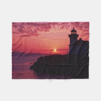 San Juan Island, Lime Kiln Lighthouse Fleece Blanket