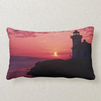 San Juan Island, Lime Kiln Lighthouse Lumbar Pillow