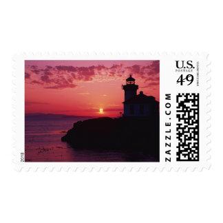 San Juan Island, Lime Kiln Lighthouse Postage Stamp