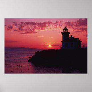 San Juan Island, Lime Kiln Lighthouse Poster