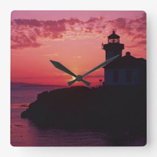 San Juan Island, Lime Kiln Lighthouse Square Wall Clock