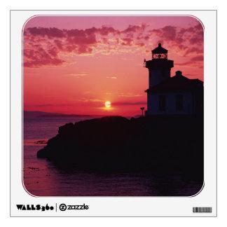 San Juan Island, Lime Kiln Lighthouse Wall Sticker
