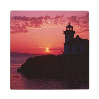 San Juan Island, Lime Kiln Lighthouse Wooden Coaster