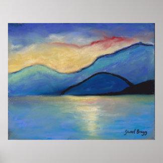 San Juan Island Twilight in Pastels Poster