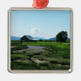San Juan Islands Hills Metal Ornament
