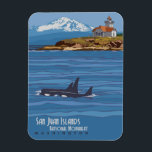 "San Juan Islands Magnet<br><div class=""desc"">Magnet of San Juan Islands National Monument,  Washington.</div>"