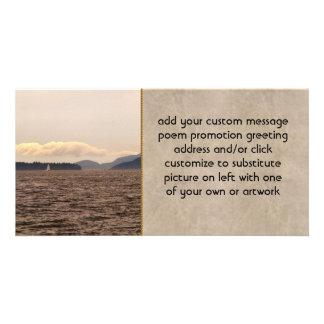 San Juan Islands Sail Customized Photo Card