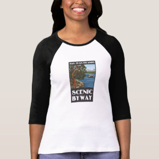 San Juan Islands Scenic Byway Ladies Long sleeve T T-Shirt