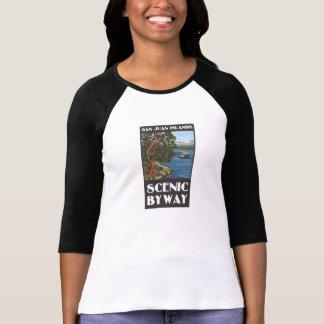 San Juan Islands Scenic Byway Ladies Long sleeve T Tees