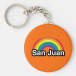 SAN JUAN LGBT PRIDE RAINBOW KEY CHAINS
