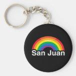 SAN JUAN LGBT PRIDE RAINBOW KEYCHAIN