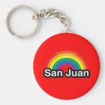 SAN JUAN LGBT PRIDE RAINBOW KEYCHAINS