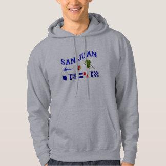 San Juan - Maritime Flag Spelling Hoodie