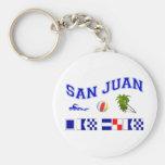 San Juan - Maritime Flag Spelling Key Chain