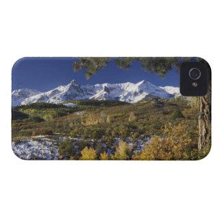 San Juan Mountains and Aspen trees in fallcolor iPhone 4 Case