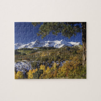 San Juan Mountains and Aspen trees in fallcolor Jigsaw Puzzle