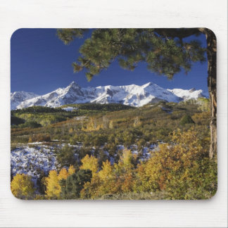 San Juan Mountains and Aspen trees in fallcolor Mouse Pad