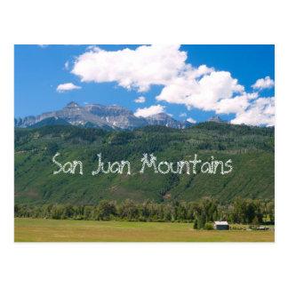 San Juan Mountains Post Cards