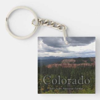 San Juan National Forest Acrylic Keychain
