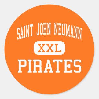 San Juan Neumann - piratas - alto - Philadelphia Pegatina Redonda