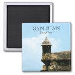 San Juan, Puerto Rico 2 Inch Square Magnet