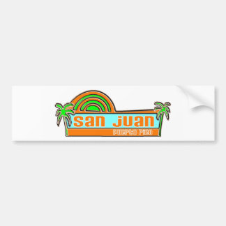 San Juan, Puerto Rico Car Bumper Sticker
