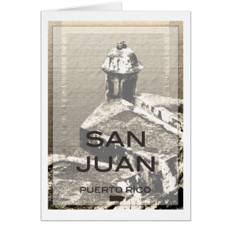 San Juan Puerto Rico Card